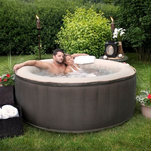 Couple Enjoying Time in a Portable Spa