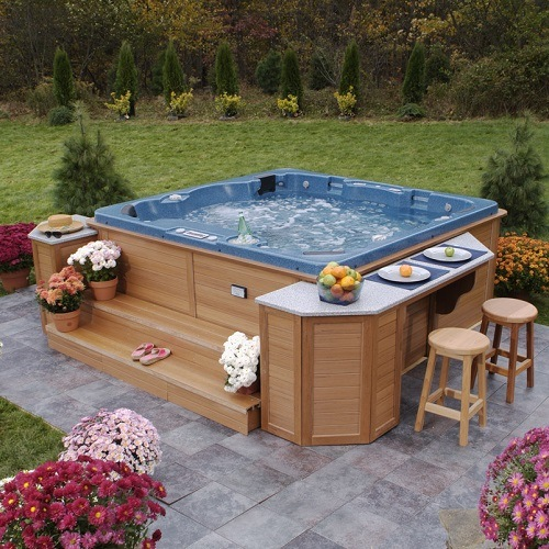 Beautiful Hot Tub in Backyard
