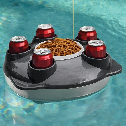 Hot Tub Tray with Coke and Snacks in a Hot Tub