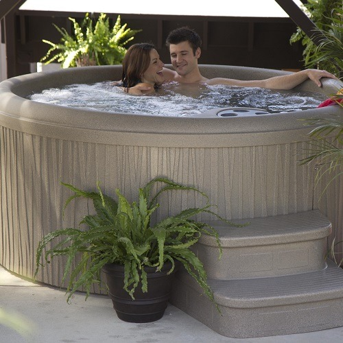 Couple Relaxing in a Hot Tub