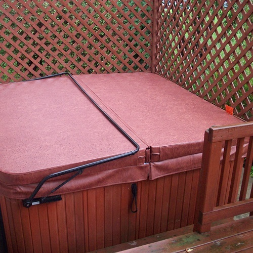 Hot Tub Cover Color Red
