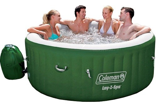 Coleman Lay Z Spa Inflatable Hot Tub With People