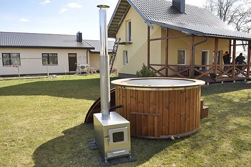 Heater Next To Hot Tub Outside